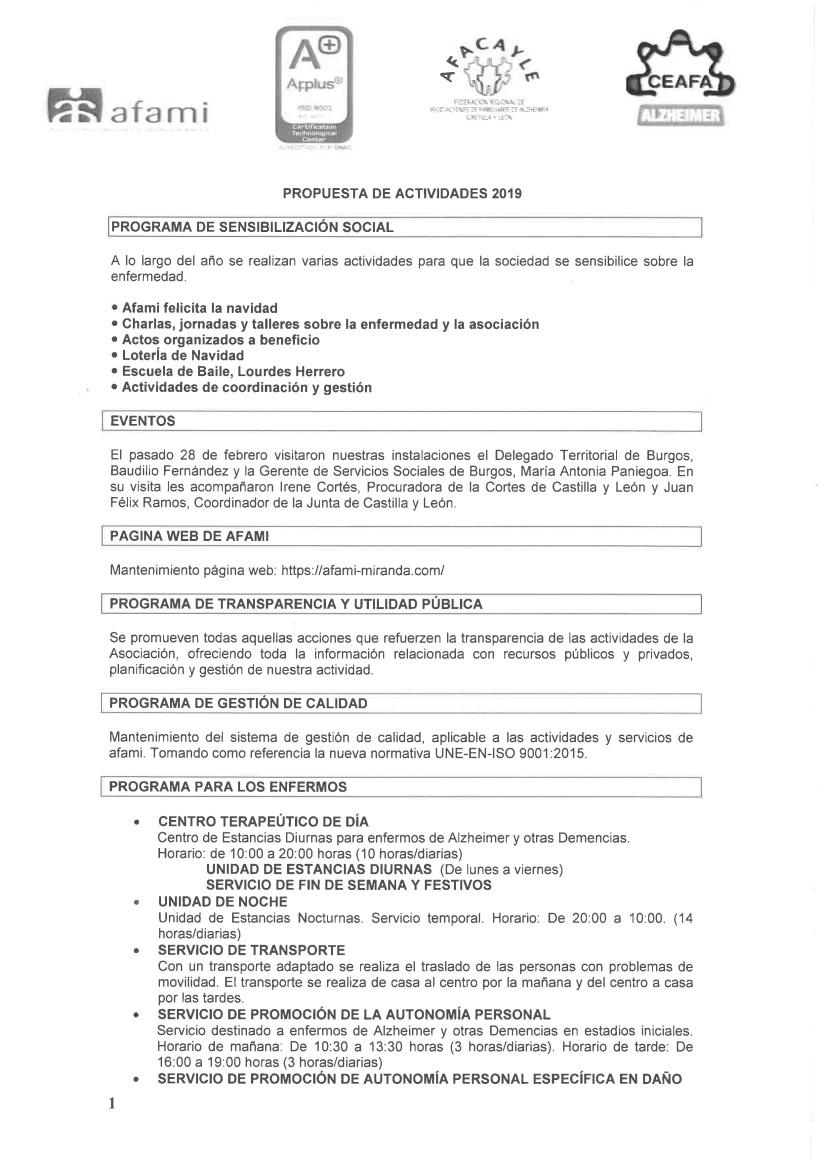 2. Propuesta de actividades 2018-1